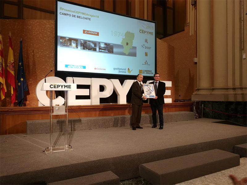 Recogemos el premio de Cepyme Aragón por nuestro trabajo